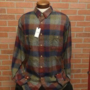 ROWM mens flannel shirt Ombré checks (GG67-69)